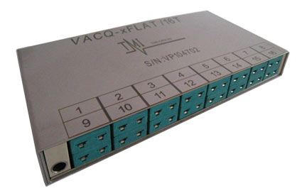 VACQ xFlat - 16 thermocouple channels
